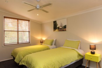 The master bedroom can accommodate 1 couple, 1 couple and 1 single or 3 singles comfortably