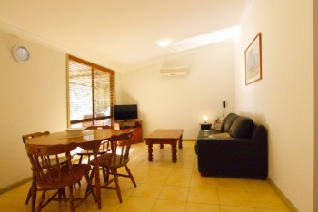 Pepper Tree Cottages self contained studios open Lounge and Dining area...